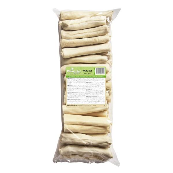 Planet Pet White roll - деликатесно лакомство от телешка кожа 13 см. / 1000 грама