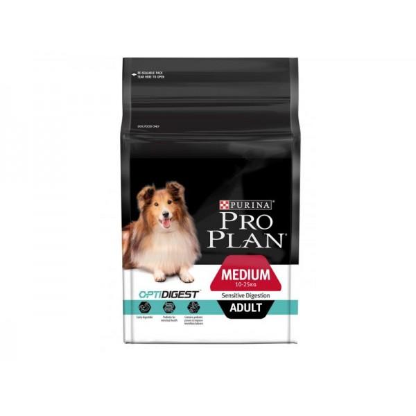 Храна за кучета Purina Pro Plan Medium Adult Sensitive Digestion Lamb с Агнешко Чувствителен Стомах Средни Породи 14 кг.