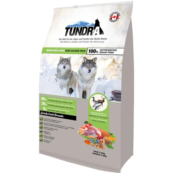 Tundra Deer Salmon Turkey - пълноценна храна с еленско месо, патица и сьомга, подходяща за всички породи над 12 месеца