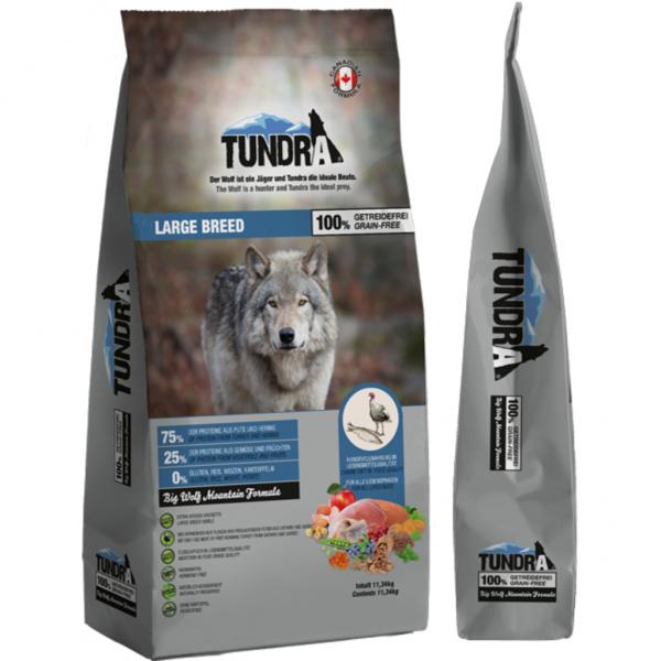 Tundra Large Breed Duck & Herring - пълноценна храна за кучета големи породи с патешко и херинга
