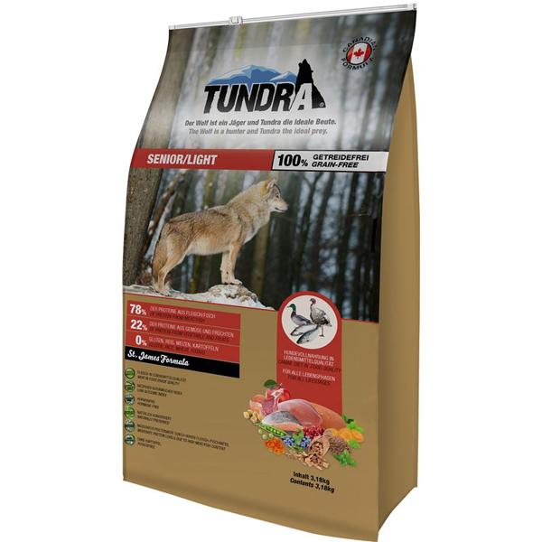 Tundra Senior Chicken Turkey Duck - пълноценна храна с пилешко, пуешко и патешко, за кучета над 7 годишна възраст