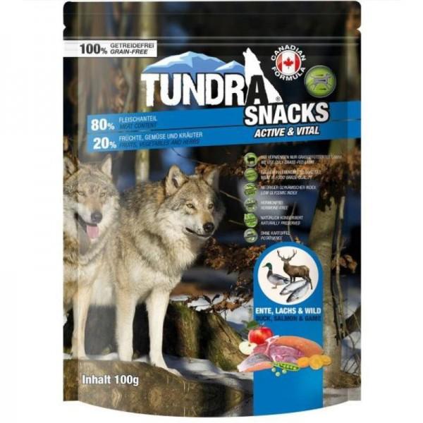 Tundra Snacks Duck Salmon Wild Лакомство за куче с патица, сьомга и девеч