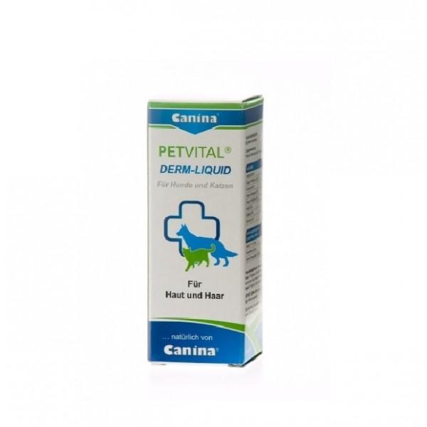 Canina Petvital Derm-Liquid - при метаболитни, хормонални и алергични проблеми свързани с кожни проблеми 25 мл.