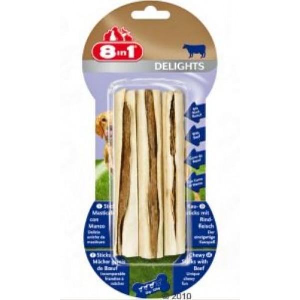 8 in 1 - Пръчици говеждо месо за кучета 3бр.