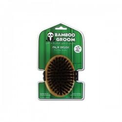 Alcott Bamboo Groom Palm Brush with Boar Bristles - Бамбукова Четка с Косми от Диво Прасе, за Всякакъв Тип Козина