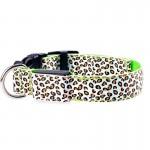 LED Light Collar Светещ Нашийник Леопард