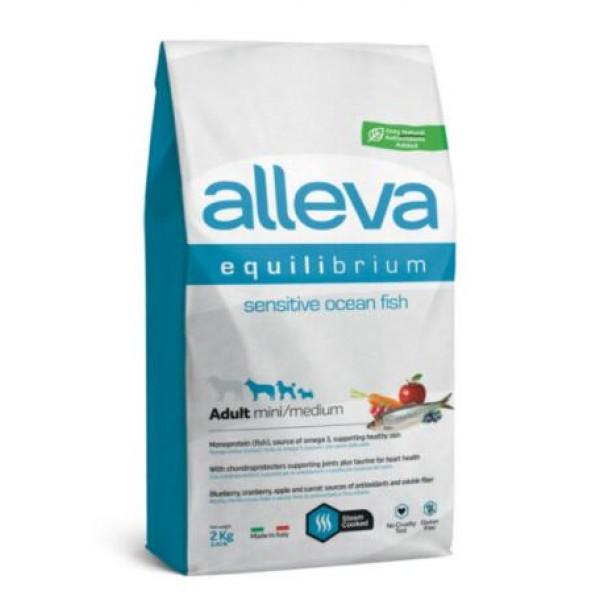 Alleva® Equilibrium (Adult Mini/Medium) Sensitive Ocean Fish - Пълноценна храна за кучета от всички породи