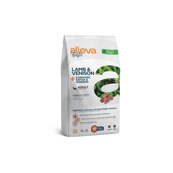 Alleva Holistic Lamb & Venison + Cannabis Sativa & Ginseng | Adult Mini - Пълноценна храна за възрастни кучета от малки породи