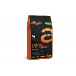 Alleva Natural Chicken & Pumpkin - Adult Maxi - Промоция 43% отстъпка за 2кг разфасовка
