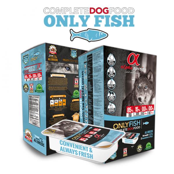 Alpha Spirit ONLY FISH SEMI-MOIST Copmplete - Алфа Спирит Полу-суха Храна за Кучета от Всички Породи Монопротеинова РИБА