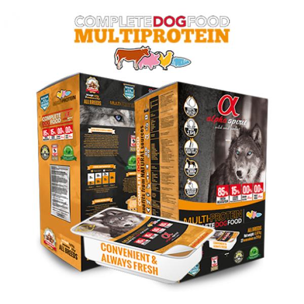 Alpha Spirit MULTI-PROTEIN SEMI-MOIST Copmplete - Алфа Спирит Полу-суха Храна за Кучета от Всички Породи Мулти-протеин