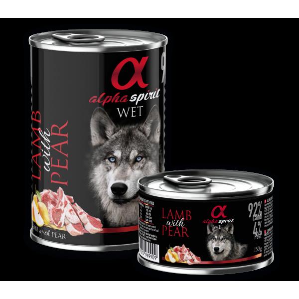 Alpha Spirit Complete WET Dog Food, Lamb with Pear - Пълноценна мека храна за куче с Агне и Круши