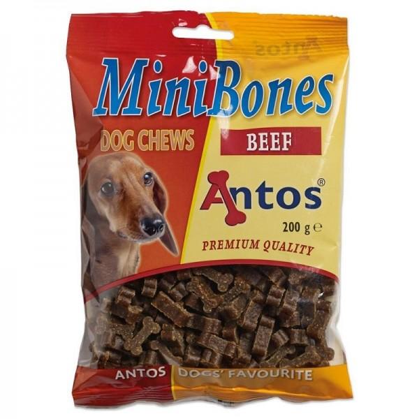 Antos MiniBones - Лакомство мини кокалчета с говеждо, 200 гр
