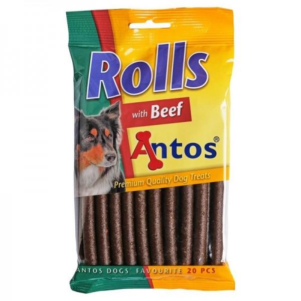 Antos Rolls - лакомство за кучета, говеждо, 20бр.