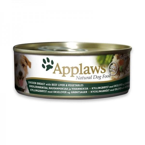 Applaws Chicken, Beef liver & Vegetable - Месни хапки с пилешко филе, черен дроб и зеленчуци за кучета