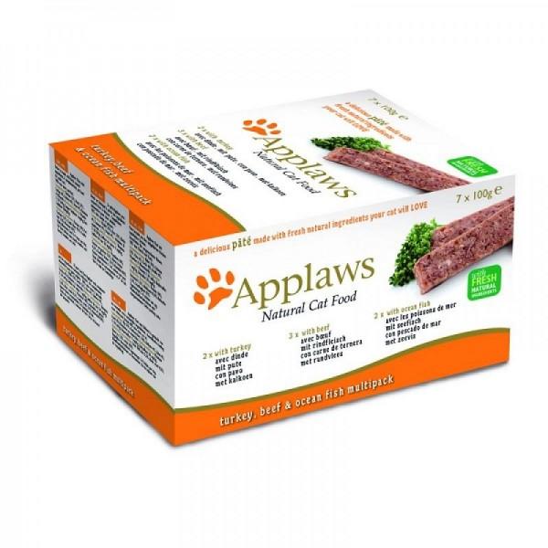 Applaws Pate Fresh Selection Multipack - Пастети за кучета селекция от пуйка, телешко, океански риби за кучета
