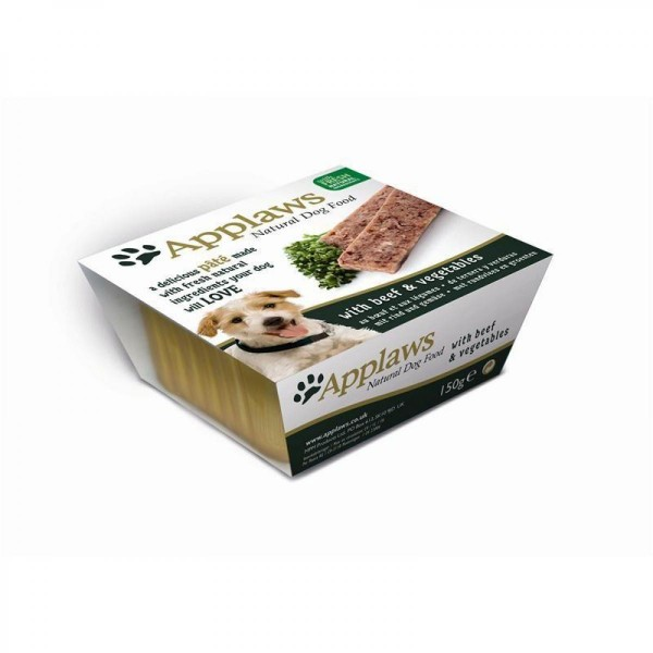 Applaws Pate with Beef and Vegetables - пастет за кучета с телешко и зеленчуци 150г