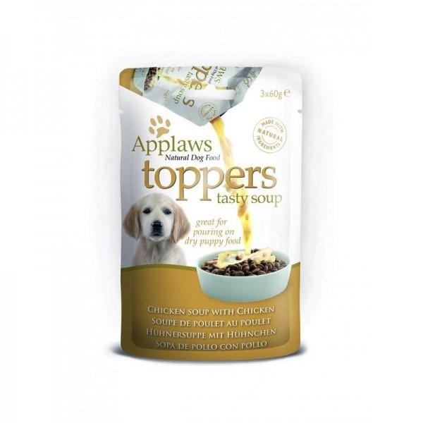 Applaws Dog Toppers Chicken Soup Пауч-Овкусител за малки подрастващи кученца с пилешко 3 x 60 гр.