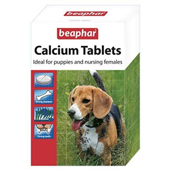 Beaphar Calcium Tablets - Калциеви таблетки за кученца, бременни и кърмещи кучета, 180 бр