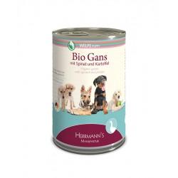 Herrmann's Bio Can Puppy Goose Био Храна за Кученца с месо от гъска, спанак и картофи
