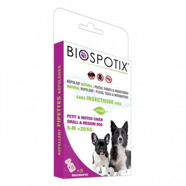 BIOSPOTIX Противопаразитни пипети за куче до 20кг - 5бр. пипети в кутия