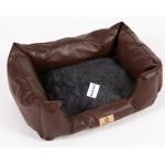 BlueSky АВА кожено легло с възглавница