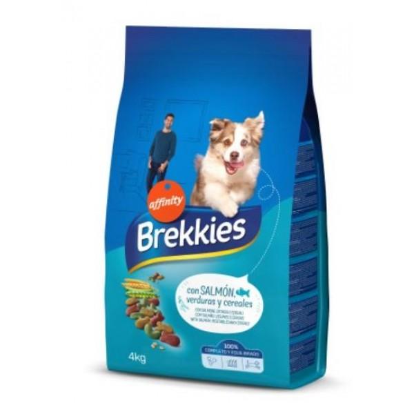 Brekkies Mix Fish - храна за кучета от средна и голяма порода със сьомга, риба тон и зеленчуци
