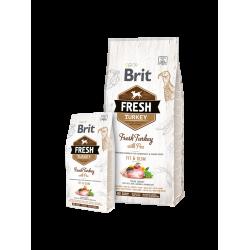 Brit Fresh Turkey with Pea Adult Fit & Slim - Холистична храна за възрастни кучета с наднормено тегло