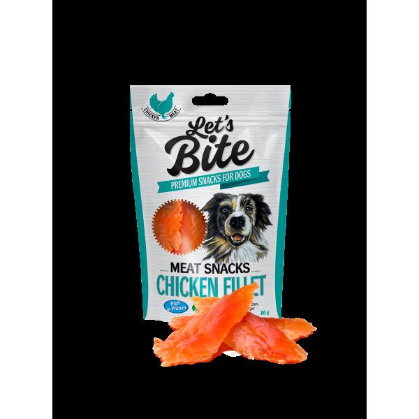 Brit Let's Bite Meat Snacks - Chicken Fillet - Лакомство за кучета с пилешко месо