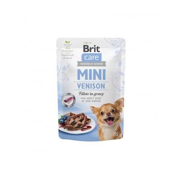 Brit Care Mini Venison fillets in gravy - паучове с еленско за кученца
