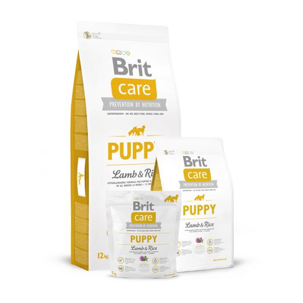 Brit Care Puppy Lamb and Rice All Breed - Брит Суха Храна за Подрастващи Кучета от всички породи с Агнешко и Ориз