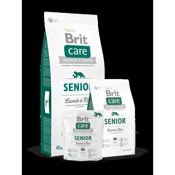 Brit Care Senior Lamb and Rice - Брит Суха Храна за Кучета в Напреднала Възраст с Агнешко и Ориз