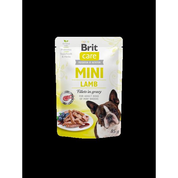 Brit Care Mini Lamb fillets in gravy - паучове с агнешко месо за кученца