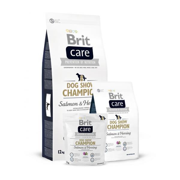 Brit Care Dog Show Champion Salmon & Herring - Брит Суха Храна за Кучета с 2 Вида Риба - Сьомга и Херинга