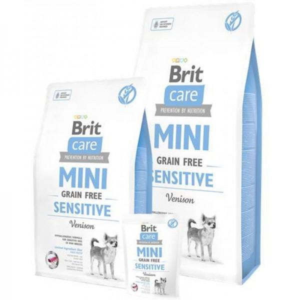 Brit Care Grain-free Mini Sensitive Venison - Брит Без зърнена Храна за Чувствителни Кучета от Мини Породи (1-25кг) с Еленско месо