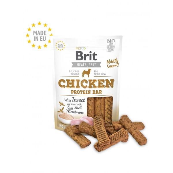Brit Jerky Snack - протеинов бар с пилешко месо за кучета