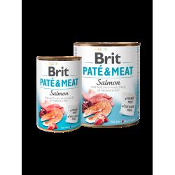BRIT PATÉ & MEAT SALMON - консервирана храна за кучета с 26% сьомга и 24% пилешко месо