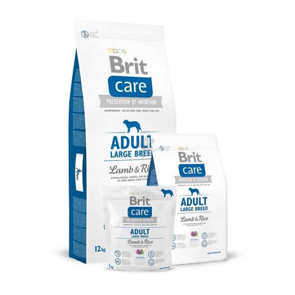 Brit Care Adult Large Breed Lamb & Rice - Брит Храна за Кучета от Голяма Порода с Агнешко и Ориз