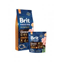 Brit Premium Senior S/M - Премиум храна за възрастни кучета от средни и големи породи  (10-15кг.)