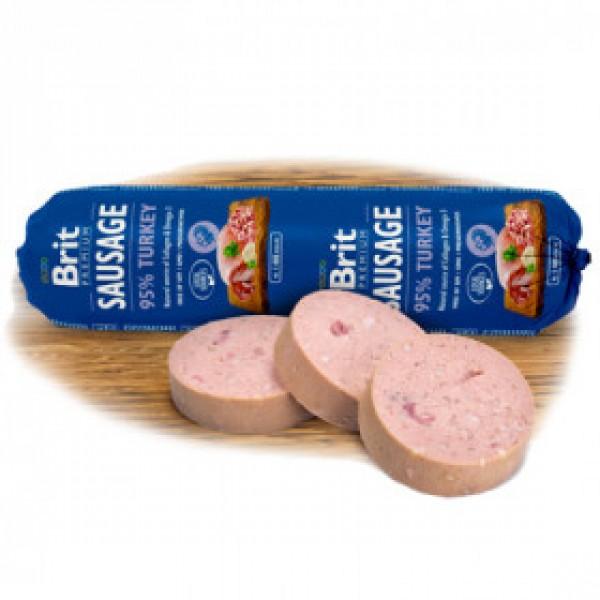 Brit Premium Sausage - Салам за Кучета Брит с 95% Месо с пуешко