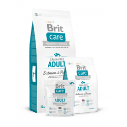 Brit Care Grain-free Adult Small and Medium Salmon & Potato - Брит Храна за възрастни кучета от малки и средни породи със сьомга (1-25 кг).