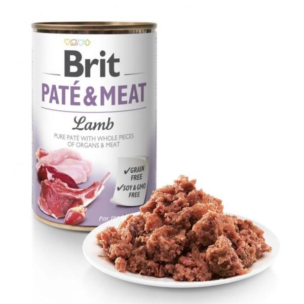 BRIT PATE & MEAT LAMB - консервирана храна за куче с 26% агнешко месо