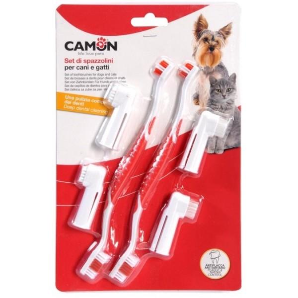 Camon Комплект четки за зъби за кучета