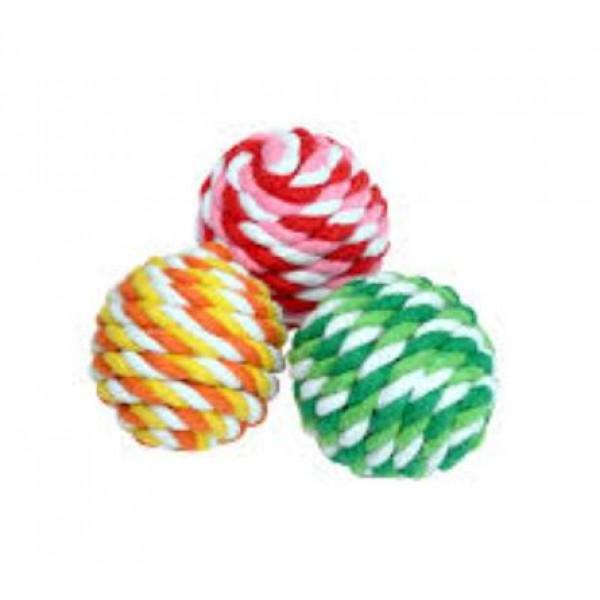 Camon топка от въже - играчка за кучета с разнообразни цветове