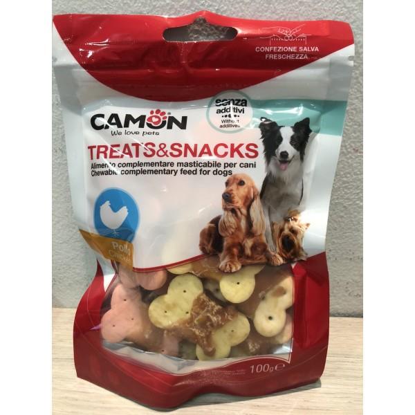 Camon Treats & Snacks- Лакомство-кокалчета за куче с пиле 80 гр.