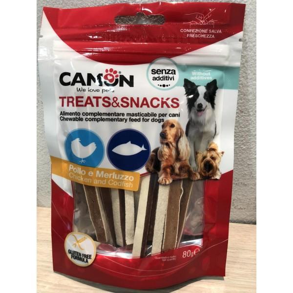 Camon Treats & Snacks- Лакомство- ленти за куче с пиле и риба 80 гр.