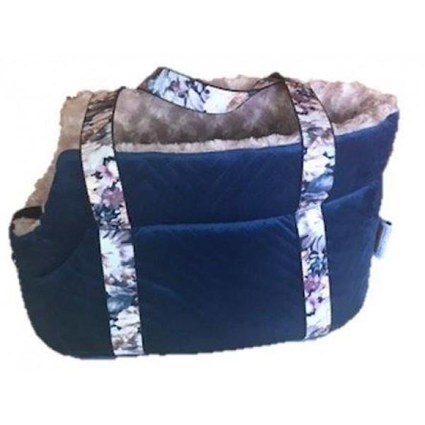 Camon Velvet Blue - Мека Транспортна Чанта за куче