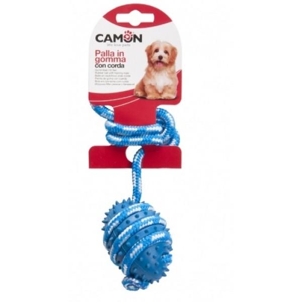Играчка за Кучета Camon Dog Ball with Rope Топка с Въже