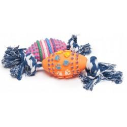 Играчка за Кучета Camon Dog Toy Ball Топка Винил Въже