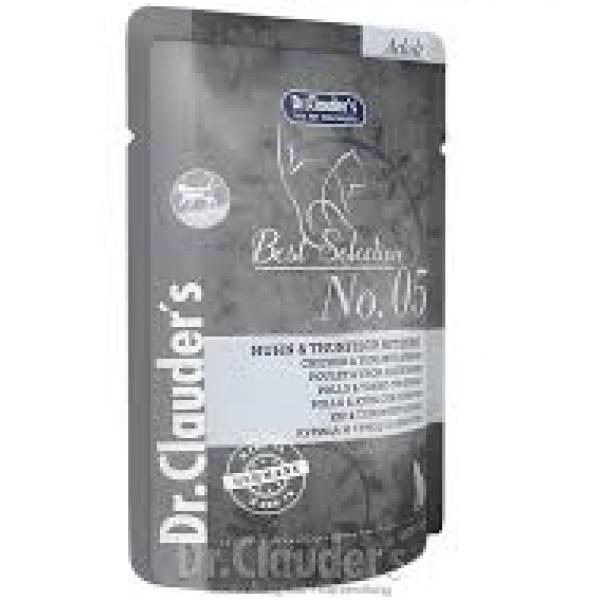 Dr. Clauder's  Adult - пауч с пиле, риба тон и спанак, 85 гр